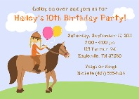 Horseback Riding Birthday Party Invitations