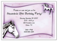 Horse Birthday Party Invitations
