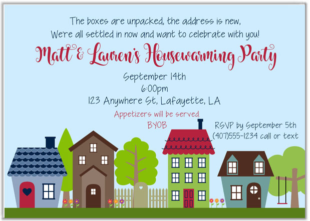 Housewarming Party Invitations New