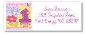 Hugs and Stitches 1st Birthday Girl Return Address Labels