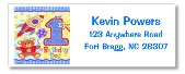 Hugs and Stitches 1st Birthday Boy Return Address Labels