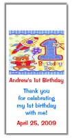 Hugs and Stitches 1st Birthday Boy Mini Candy Wrappers Favors
