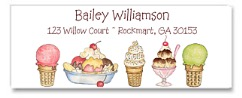 Ice Cream Party Return Address Labels