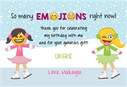 Emoji Ice Skating Thank You Cards