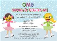 Emoji Ice Skating Birthday Party Invitations