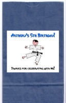 Karate Birthday Party Goodie Loot Bag Labels Favors
