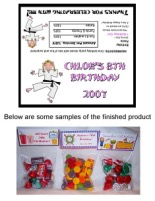 Karate Girl Birthday Party Bag Toppers Favors w/Recloseable Bags