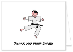 Karate Tae Kwon Do Thank You Note Cards Personalized