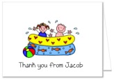 Swimming Pool Party Thank You Note Cards Personalized