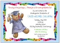 Kindergarten Preschool Graduation Invitations New