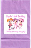 Lalaloopsy Birthday Party Goodie Loot Bag Labels Favors
