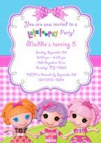 Lalaloopsy Doll Birthday Party Invitations