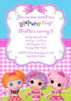 Lalaloopsy Doll Birthday Party Invitations