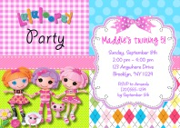 Lalaloopsy Birthday Party Invitations
