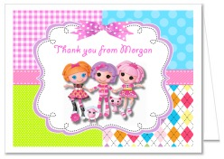 Lalaloopsy Birthday Party Thank You Note Cards