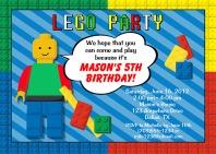 Lego Birthday Party Invitations