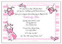 Bridal Shower Lingerie Bachelorette Party Invitations