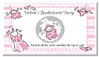 Bridal Shower Lingerie Party Scratch Off Tickets Personalized