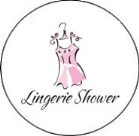 Lingerie Bridal Shower Round Envelope Seals Labels