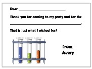 Science Fill in the Blank Thank You Cards
