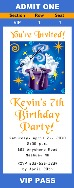 Magic Themed Birthday Party Ticket Invitations