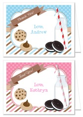 Milk and Cookies Thank You Note Cards Personalized