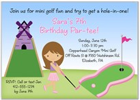 Mini Miniature Golf Party Invitations