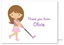 Mini Miniature Golf Birthday Party Thank You Note Cards