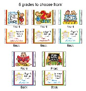 1st 2nd 3rd 4th 5th Grade Graduation Mini Candy Wrappers Favors