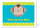 Mod Monkey Thank You Note Cards Personalized