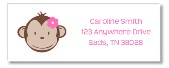 Mod Monkey Girl Return Address Labels