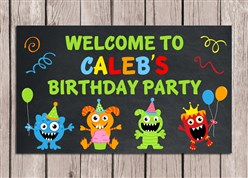 Monster Birthday Party Sign
