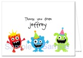 Monster Thank You Note Cards