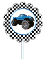 Monster Truck Cupcake Toppers