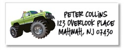 Monster Truck Return Address Labels