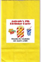 Movie Birthday Party Goodie Loot Bag Labels Favors