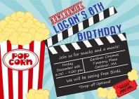 Movie Themed Birthday Party Invitations