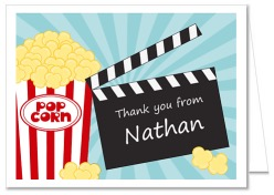 Movie Themed Thank You Note Cards Personalized