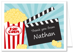 Movie Thank You Note Cards Personalized