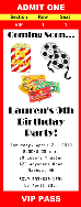 Movie Theater Birthday Party Ticket Invitations