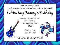Music Guitar Birthday Party Invitations