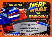 Nerf Birthday Party Invitations