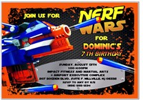 Nerf Birthday Party Invitations