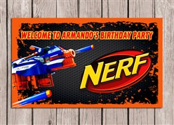 Nerf Birthday Party Sign