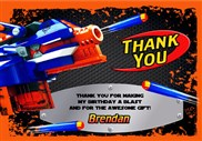 Nerf Thank You Cards