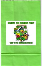 Teenage Mutant Ninja Turtles Birthday Party Loot Bag Labels