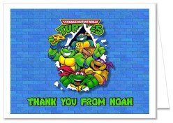 Teenage Mutant Ninja Turtles Thank You Note Cards