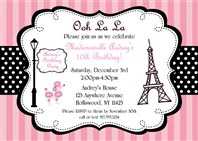 Parisian Birthday Party Invitations