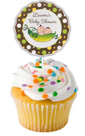 Two Peas in a Pod Cupcake Toppers