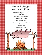 Pig Roast BBQ Barbeque Party Invitations